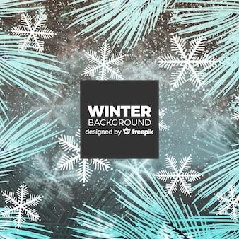Прекрасный зимний фон с элегантным стилем