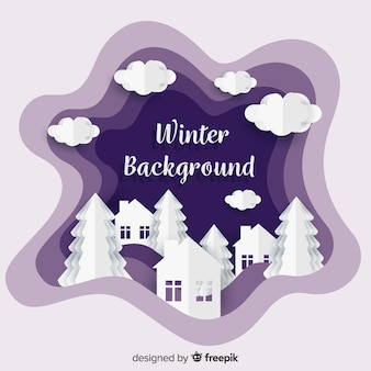 Lovely winter background with paper texture
