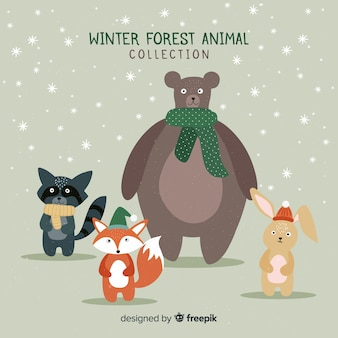 Lovely winter character collection