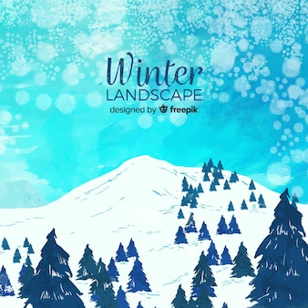 Lovely winter landscape collection