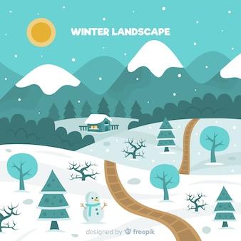 Lovely winter landscape compositio