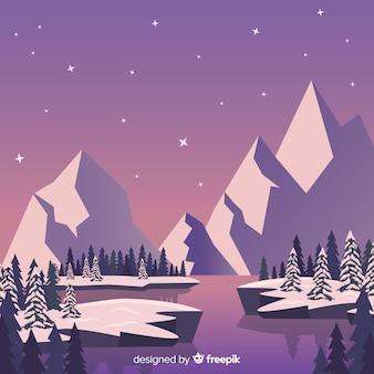 Прекрасная композиция зимнего пейзажа
