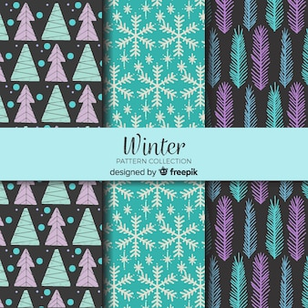 Lovely winter pattern collection