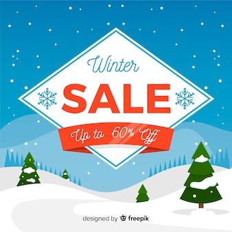 Lovely winter sale compositio
