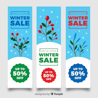 Lovely winter sale compositio