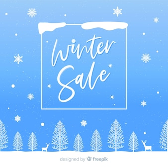 Lovely winter sale composition