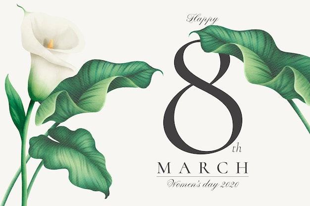 Lovely women's day background with white lilies