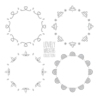 Lovely wreaths collection