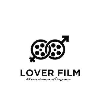 Lover film studio movie production logo design