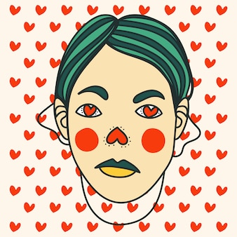 Lover mask valentines day