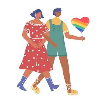 Loving couple of lesbians