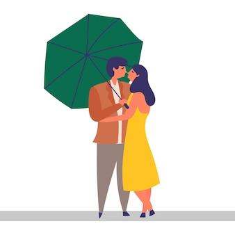 Влюбленная пара проводит время вместе
