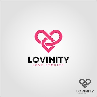 Lovinity - eternal love logo template
