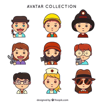 Lovlely pack of workers avatars