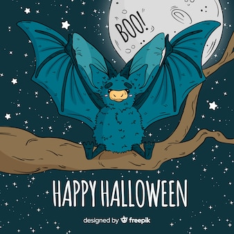 Lovley hand drawn halloween bat