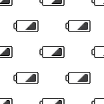 低バッテリー、ベクトルのシームレスなパターン、編集可能webページの背景、パターンの塗りつぶしに使用できます