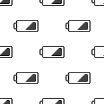 Low battery, vector seamless pattern, editable can be used for web page backgrounds, pattern fills