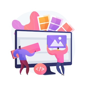 Low code development abstract concept illustration