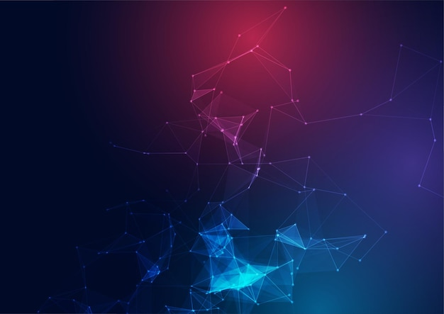 Low poly abstract design background with connecting lines and dots design