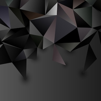 Low poly abstract futuristic background