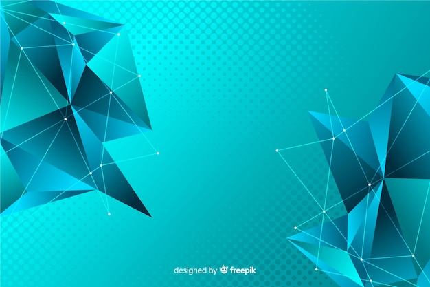 Low poly abstract polygonal shapes background