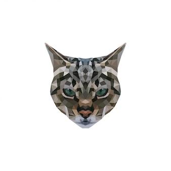Low poly art cat