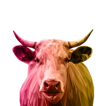 Low poly art cow