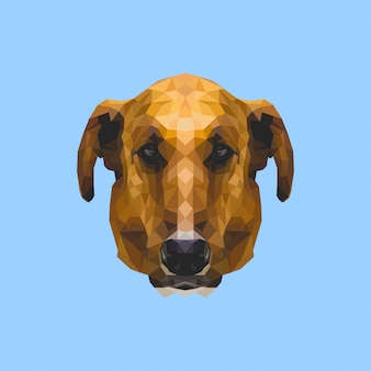 Low poly art dog