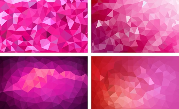 Low poly background pink color