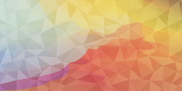 Low poly background vector geometric design