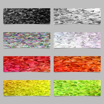 Low poly banner template background set