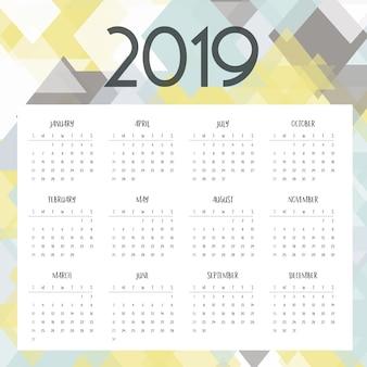 Low poly calendar design