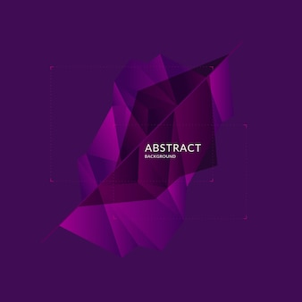 Low poly design. abstract polygonal object in the background. vector illustration