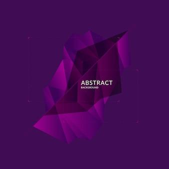 Низкополигональная конструкция. абстрактный многоугольный объект в фоновом режиме. векторная иллюстрация