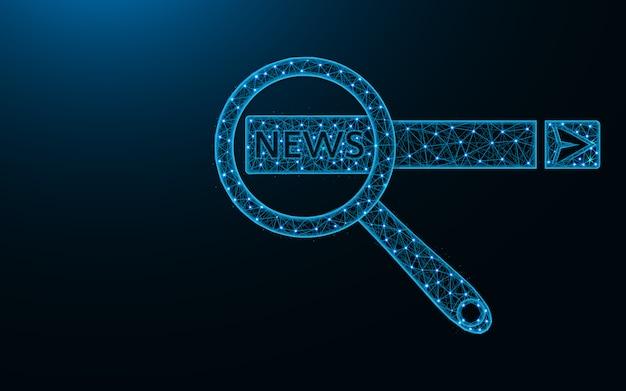 Поиск новостей в интернете low poly design