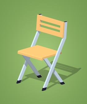 Low poly folding chair