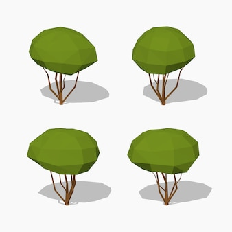 Low poly green tree
