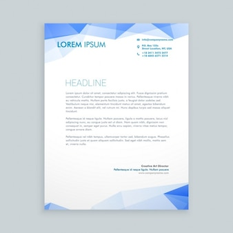 Low poly letterhead design