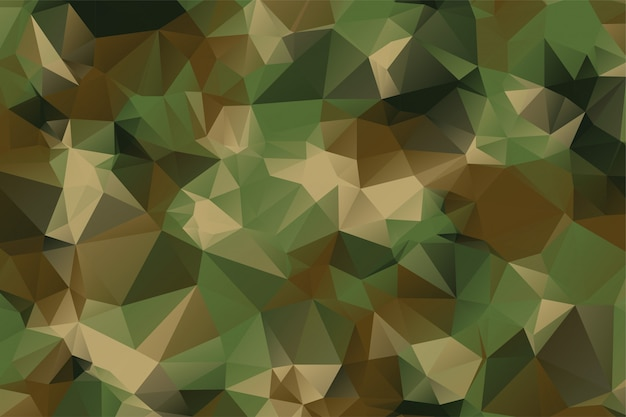 Low poly style camouflage pattern texture background