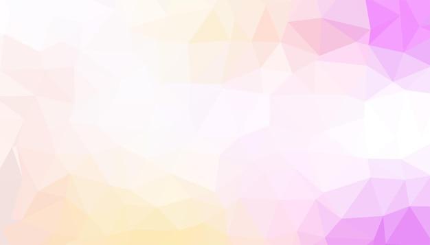 Sfondo basso poli bianco e colori tenui