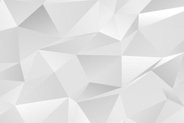 Sfondo di triangoli bianchi low poly