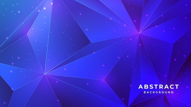 Low polygon crystal abstract blue 3d background