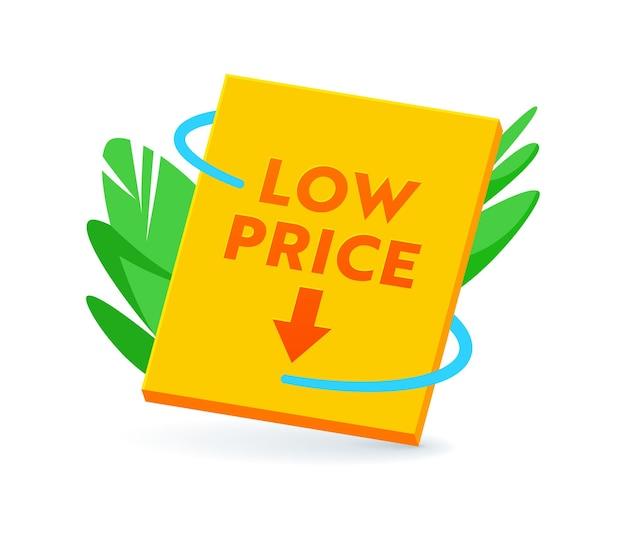 저렴한 가격 배너 또는 아이콘, 판매, 태그, 비용 절감, 할인 레이블에 대한 프로모션 제안. 흰색 배경에 고립 된 블랙 프라이데이에 대 한 프로모션, 리베이트 스티커 또는 상징 할인 가격. 벡터 일러스트 레이 션