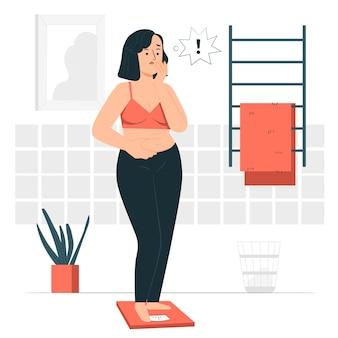 Low self-esteem concept illustration