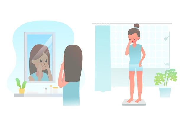 Low self-esteem illustration