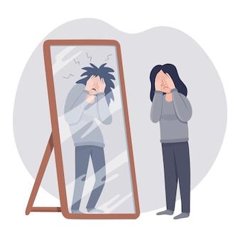 Illustrazione di bassa autostima