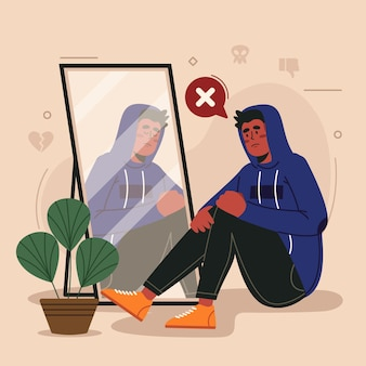 Low self-esteem illustration
