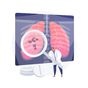 Lower respiratory infections abstract concept vector illustration. lung infectious disease, pneumonia prevention, symptoms and diagnostics, acute lower respiratory infection abstract metaphor.
