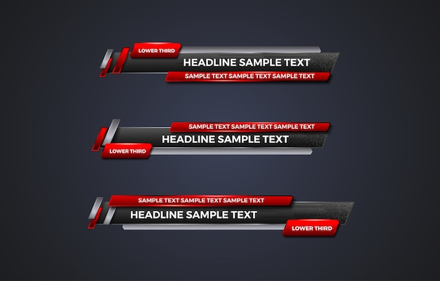 Lower third banner. tv, bars, set. streaming video. breaking news,sport news, interface, design template