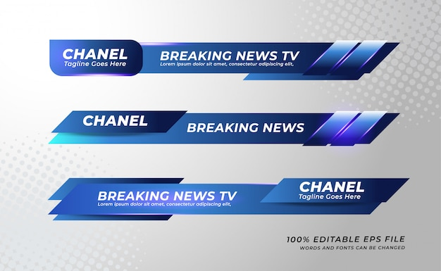 Lower thirds banner template